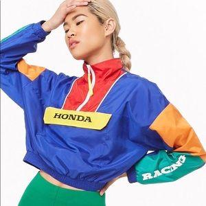 HONDA x Forever 21 cropped windbreaker